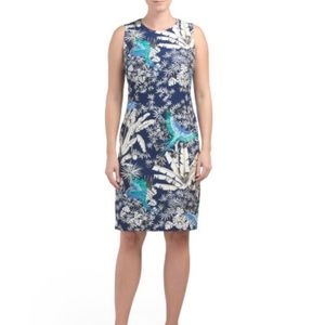 J. McLaughlin Belinda sleeveless sheath Parrot Cay